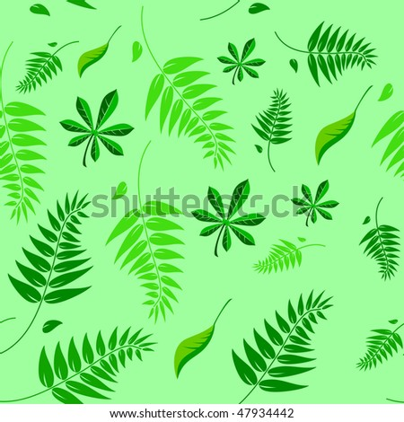 A seamless spring and summer floral vector background illustration which can be tiled. - stock vector