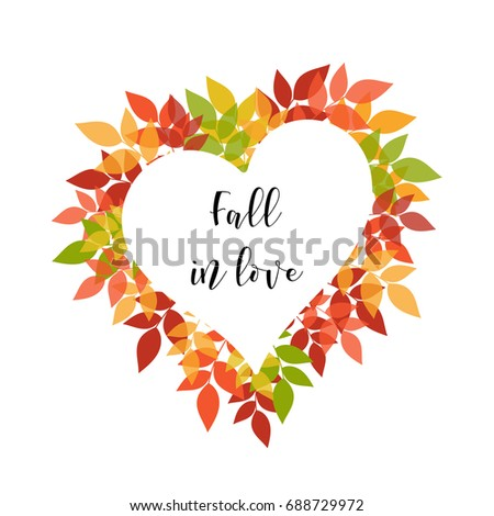 Season greeting card poster sample quote stock vector 688729972 a season greeting card or poster with a sample quote bright autumn foliage arranged in m4hsunfo