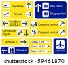 A selection of Airport signs. EPS10 vector format - stock photo