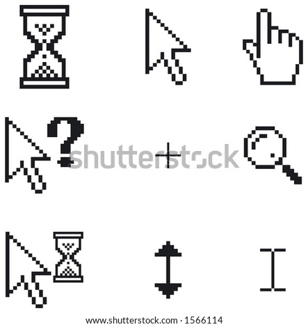 A selection of different cursor designs