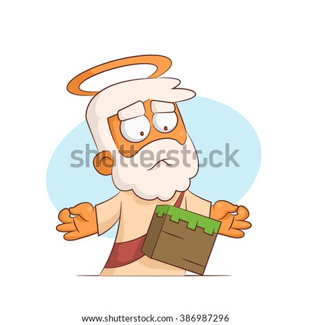 A series of characters on the theme of role-playing games. Vector illustration.God - stock vector