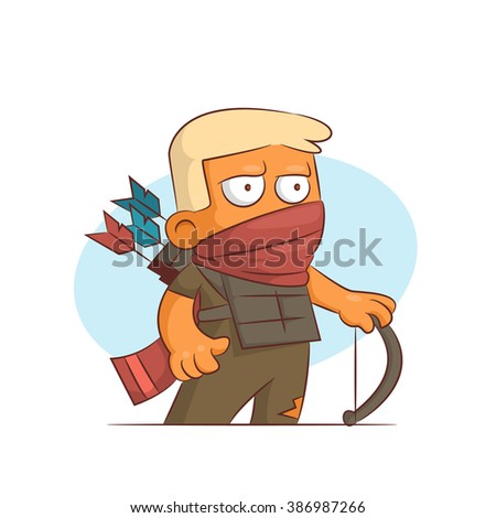 A series of characters on the theme of role-playing games. Vector illustration.Scout - stock vector