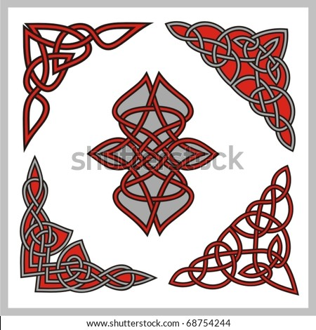 A set of Celtic ornamental designs. - stock vector