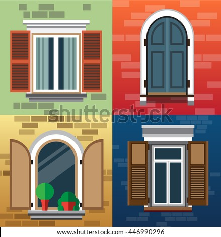 Exterior stock f nyk pek jogd jmentes k pek s for Window design cartoon