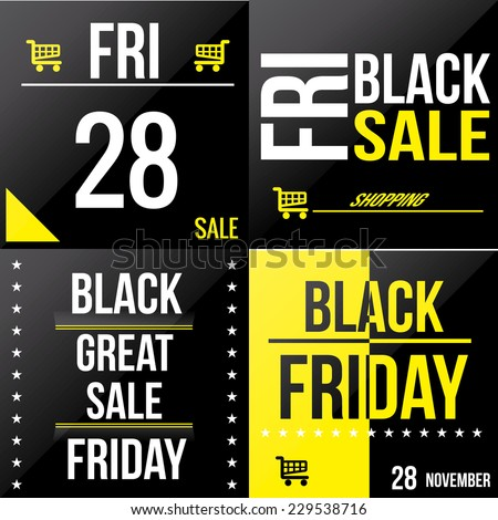 a set of colored backgrounds with text for black friday