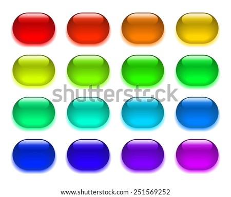 A set of colorful arrow buttons for web. Vector.