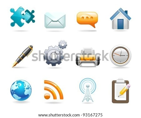 A set of communication icons