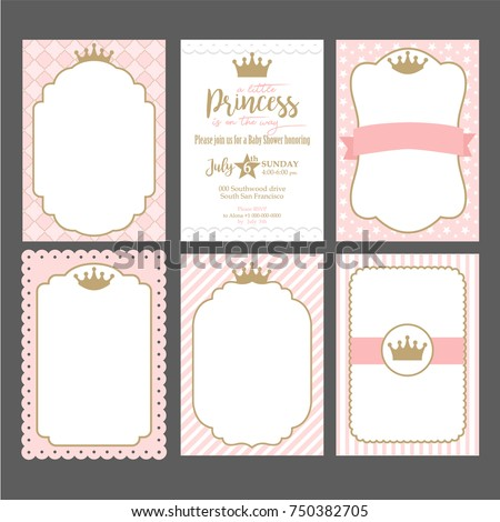 Set cute pink templates invitations vintage stock photo photo set cute pink templates invitations vintage stock photo photo vector illustration 750382705 shutterstock stopboris Images