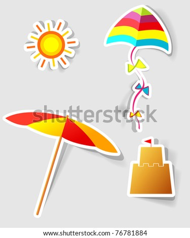 a set of design elements to advertise travel services - stock vector