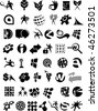 A set of different design elements , symbols and icons - vector illustration - stock vector