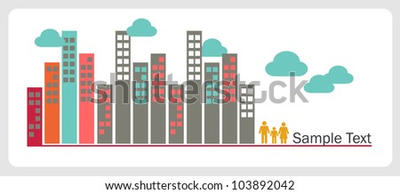 A set of elements design for advertising real estate services. Vector illustration. - stock vector