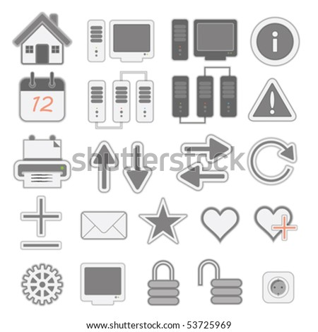 a set of few web icons, vector illustration - stock vector