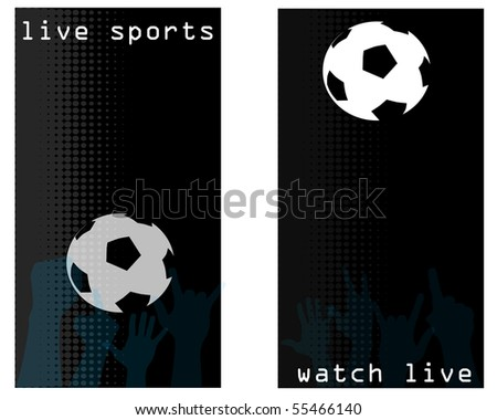 A set of flyers or promotional cards for a sports bar - stock vector