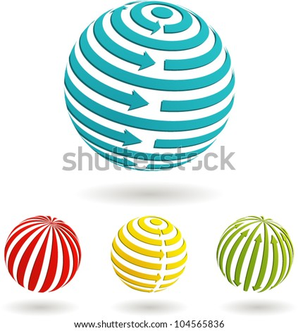 A set of Global Business Icons. Vector illustration. - stock vector