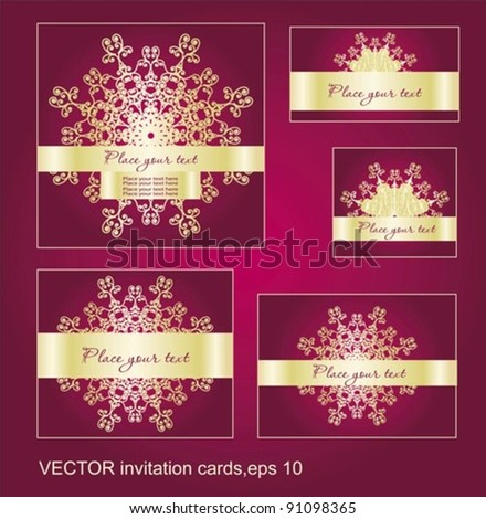 A set of holidays christmas  cards - stock vector