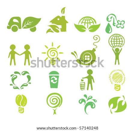 a set of icons - Ecology - stock vector