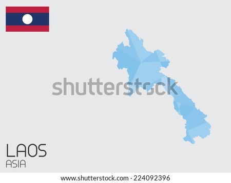 A Set of Infographic Elements for the Country of Laos