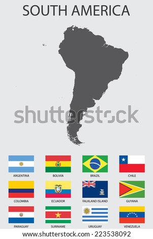 A Set of Infographic Elements for the Country of SouthAmerica - stock vector