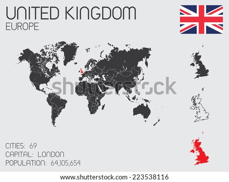 A Set of Infographic Elements for the Country of United Kingdom - stock vector