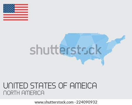 A Set of Infographic Elements for the Country of United States of America