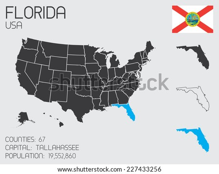 A Set of Infographic Elements for the State of Florida - stock vector