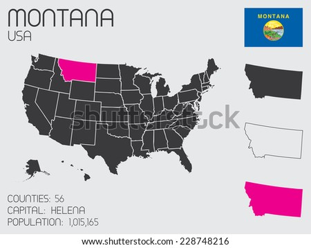 A Set of Infographic Elements for the State of Montana