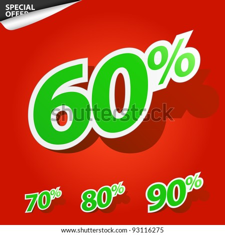 A set of labels for special offers and sales discount - stock vector