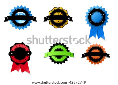 A set of medals - stock vector