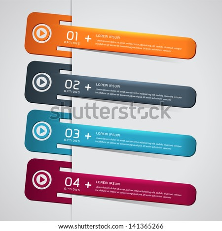 A set of Modern Colorful bookmarks for speech - stock vector