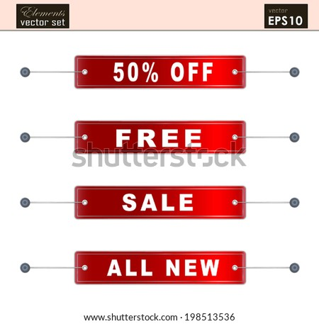 A SET of Sale tags in vector format / Special Offers Labels/ Banner SET,  Useful elements for your layout design. Premium Quality, Genuine and Satisfaction, Easy to Edit - stock vector