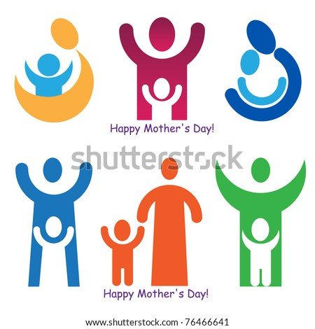 Set Signs Symbols Mothers Day Stock Vector 76466641 Shutterstock