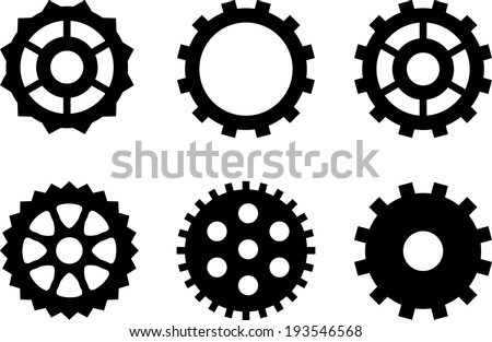 Set simple gears steampunk design stock vector 193546568 a set of simple gears for steampunk design sciox Image collections