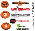 A set of vector graphics and banners for Halloween - stock vector