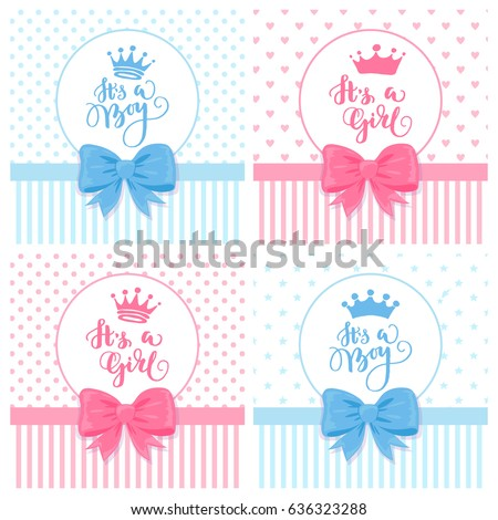 Set vector greeting cards hand drawn stock vector royalty free a set of vector greeting cards with hand drawn crown baby shower cards with a m4hsunfo
