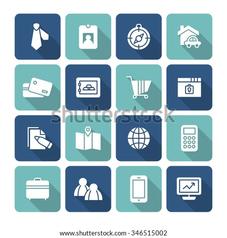 A set of vector icon graphic for business, finance, office, company, stock, global, network, money, safe, security, mobile, phone, people, tour, compass, house, card, computer, graph, map, - stock vector