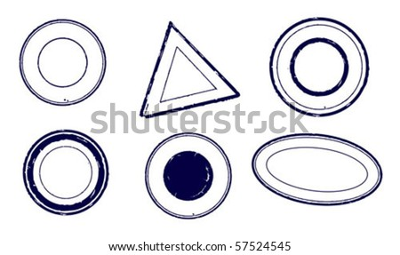 A set of vector objects - stamps - stock vector