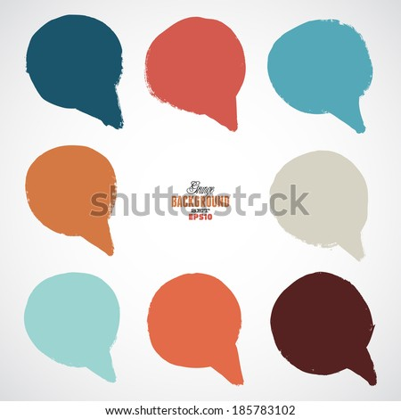 A set of vintage speech bubbles - stock vector