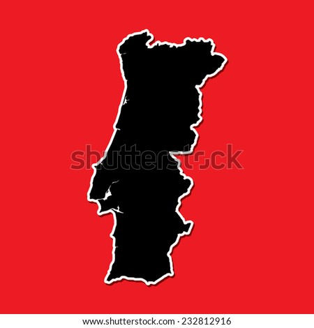 A Shape of the Country of  Portugal