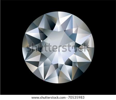 A Shiny bright diamond. Vector - stock vector