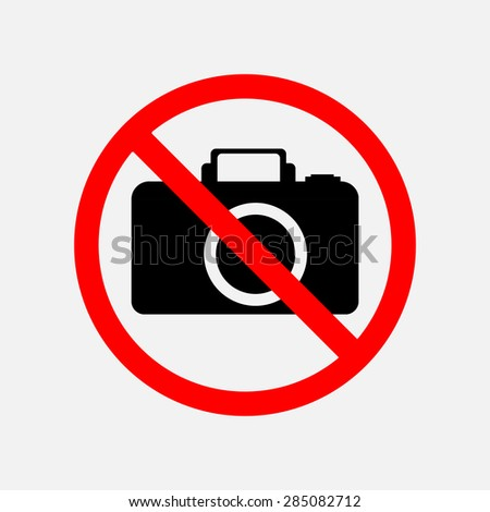 a sign can not be photographed, no photos, forbidden to take pictures, the camera is prohibited, editable vector image - stock vector