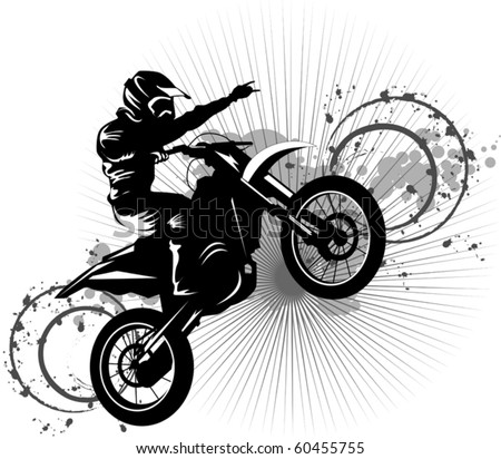 Motorcycle Racing Silhouette A silhouette of a motorcycle