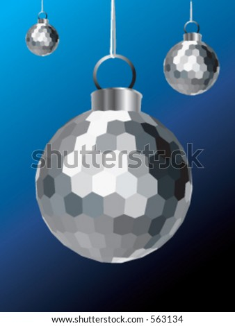 A Silver Christmas Decoration - stock vector
