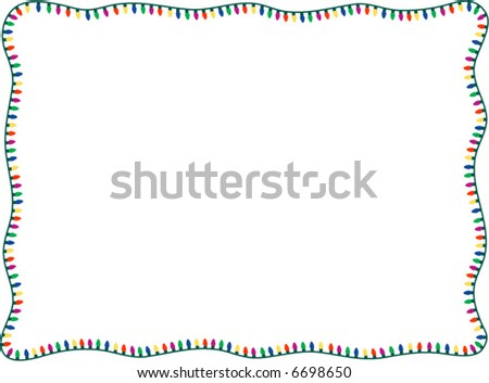 A simple border of multi colored Christmas lights. - stock vector