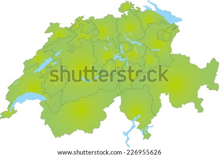 A simple map of Switzerland
