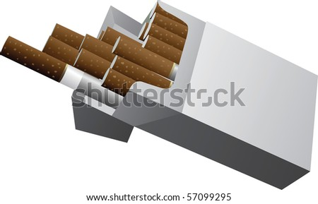 A simple packet of cigarettes. - stock vector