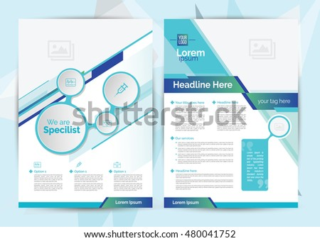 A 4 Size Medical Brochure Layout Design Stock Photo Photo Vector
