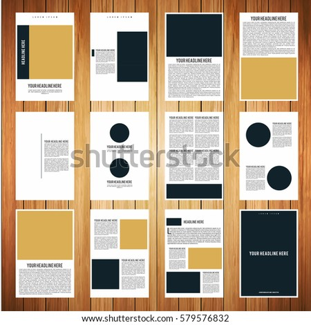 A 4 Size Portrait Book Brochure Template Stock Vector Hd Royalty