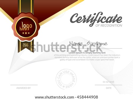 A4 size wide certificate layout template stock vector 458444908 a4 size wide certificate layout template design in red color yadclub Gallery