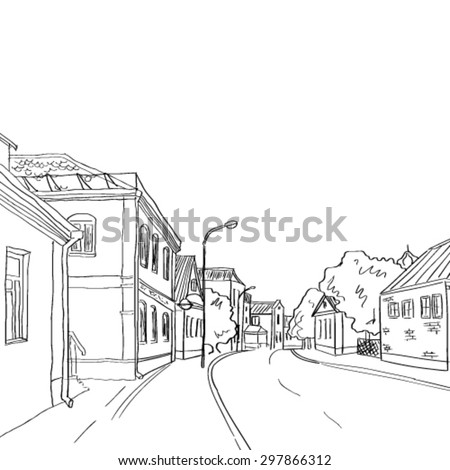 A sketch of the old town from life.