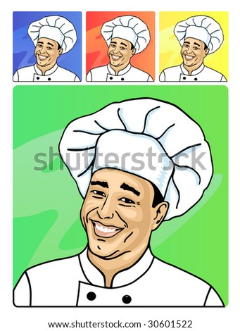 A smiling face of cook